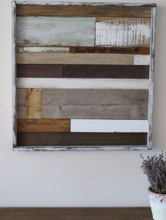 Reclaimed Wood Art Rustic Wood Art Shabby Chic by MyAlteredState