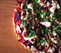 Gordon Hamersley's Beet, Goat Cheese and Walnut Tart
