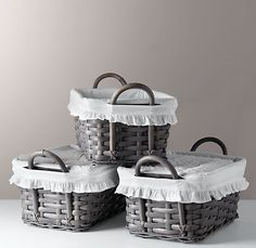 BASKETS FOR CHANGING TABLE.