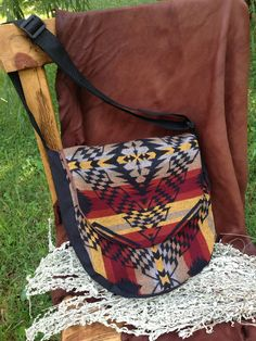 """12"""" Hand Drum Bag made with Pendelton Wool"""