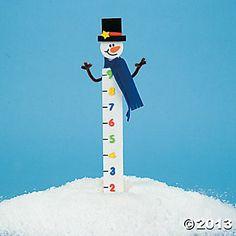 Wooden Snowman Snow Measuring Stick Craft Kit