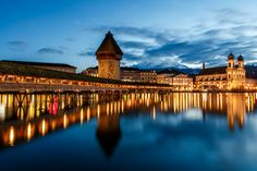 Lucerne after sunset by Fabian84 on 500px