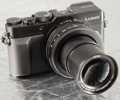 Panasonic Lumix DMC-LX100 -- the first self-contained compact digital camera with a Micro Four Thirds sensor.