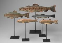 Collection of Five Fish Form Lures - North American 1930 - ideas for wood