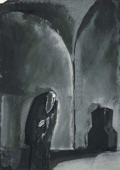 Mario Sironi (1885-1961), Solitudine, 1924, tempera e inchiostro su carta , cm 33,4x24,2,