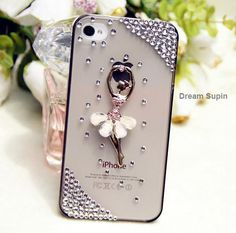 Dancing girl phone cover Transparent phone case for iPhone4/4S (iPhone 5 case accept custom). $12.90, via Etsy.