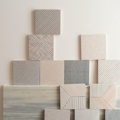 Tratti, ceramic tiles. Design inga Sempé for Mutina