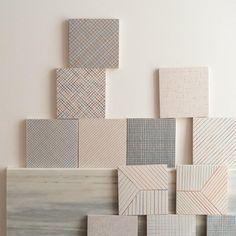 Tratti, ceramic tiles. Design inga Sempé for Mutina