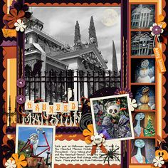 Haunted Mansion Holiday - Disney Scrapbook page layout idea