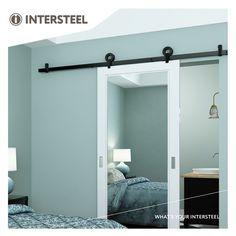 Intersteel Schuifdeursysteem Modern Top mat zwart Furniture, Black Doors, Home, Door Brackets, Modern, Types Of Doors, Sliding Doors, Doors, Barn Door