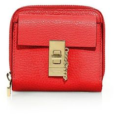 3d1575ea172e7e Chloe Drew Square Leather Zip-Around Wallet (33.425 RUB) ❤ liked on Polyvore  featuring bags