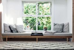 Furniture:Swedish Home Design Feat Window Seat With Reading Sofa Bed And Pillows What's Best Reading Sofa Bed To Enhance Your Reading Time House Design, Home And Living, Interior Design, Furniture, Window Seat, Home, Diy Daybed, Interior, Home Decor