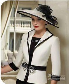 Wholesale Mother Dress - Buy Black And White Square Sheath Satin ...