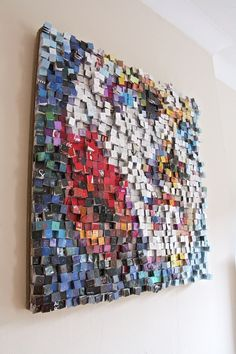 """Paola Bazz is a Manchester, UK based artist, born in Padua, Italy. """" I studied painting and drawing in my formative years and completed my degree in Architecture at University IUAV in Venice. Hotel Key Cards, Hotel Card, Rustic Wall Art, Wooden Wall Art, Wood Wall, Reclaimed Wood Art, Collage Art Mixed Media, Newspaper Crafts, Mosaic Patterns"""