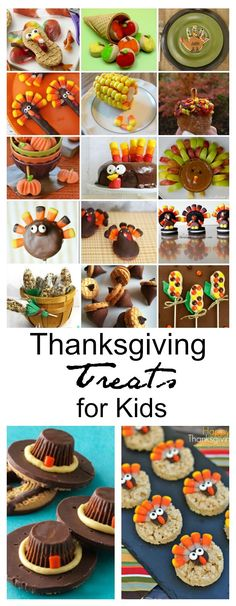 Thanksgiving | Keep the kids busy while the adults are making Thanksgiving dinner with these Thanksgiving Treats for Kids.