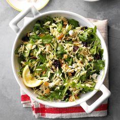 Orzo with Feta.sub in Cauli rice for the Orzo! Argula Recipes, Orzo Recipes, Healthy Recipes, Warm Salad Recipes, Greek Recipes, Orzo Salad, Feta Salad, Soup And Salad, Risoni