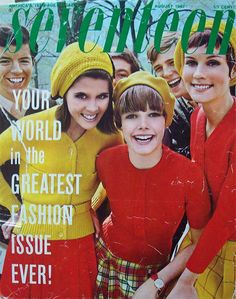 vintage everyday: 20 Beautiful Seventeen Magazine Covers from the 1960s and 1970s