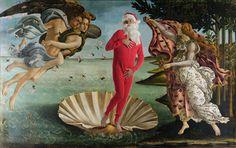 ed wheeler steps into famous masterpieces for santa classics - designboom | architecture