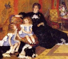 Pierre-Auguste Renoir (French Impressionist Painter, 1841-1919) Madame Georges Charpentier and her Children, Georgette and Paula