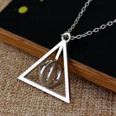 Rotating Deathly Hallows Necklace