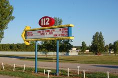 112 Drive-In Movie Theater in Fayetteville Arkansas. What a blast from the past ~ Have a fun vintage experience here! This is one of only a few drive-in theaters still operating in America.