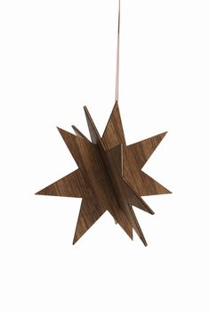 Smoked Oak Wooden Stars in Assorted Sizes design by Ferm Living. Oak contact paper will make these perfect. Wooden Christmas Trees, Nordic Christmas, Christmas Star, Christmas Tree Ornaments, Christmas Crafts, Christmas Decorations, Xmas Tree, Wooden Ornaments, Modern Christmas