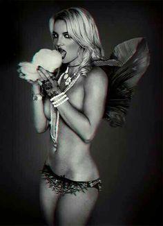 Britney Spears ; eye-candy floss.