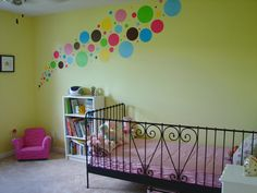 Colorful Nursery Polkadots Design Be Different with Nursery Polkadots Wall Decals
