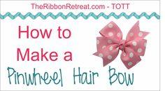 To purchase The Ribbon Retreat's Hair Bow Maker: http://www.theribbonretreat.com/Products/hair-bow-maker.aspx For the ribbon length needed for this bow, plea...