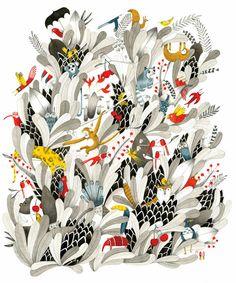 Marion Arbona, L'arbre. Art and illustration Arte Floral, Motif Floral, Grafik Design, Children's Book Illustration, Textures Patterns, Book Art, Graphic Art, Art Drawings, Artwork