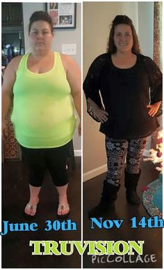 "Shari shares:   ""I haven't weighed since my 4th (Oct 30th) month which then I was down 68.8 lbs. Not weighing till DEC 1st. I have not changed my diet however I don't crave or want sweets now. I don't exercise regularly either. Just my 2 pills twice a day. Truvision is truly life changing in more ways than one!!"" www.dapat5por.truvisionhealth.com"