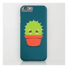 Kawaii Cactus Dude iPhone & iPod Case ($35) ❤ liked on Polyvore featuring accessories, tech accessories and iphone & ipod cases