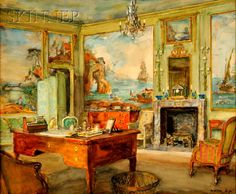 Impressions of Interiors. Gilded Age Paintings by Walter Gay (January 22, 1856 - July 15, 1937) an American painter.