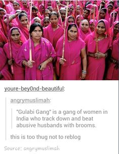 I actually watched an Indian movie on this. As you can tell, they are all wearing pink, and in Hindi gulabi means pink.