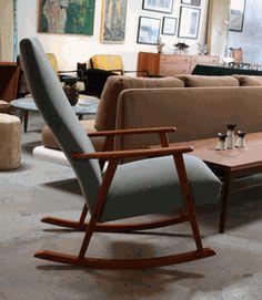 Upholstered Rocking Chair, Denmark.