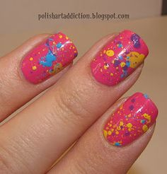 splatter nails. i'd like this with different colors