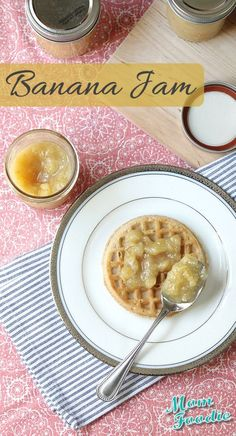 Make Banana Jam just like grandma used to with this easy recipe.  Makes awesome PB &Js