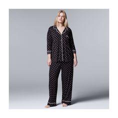 65b2e76353a0e Plus Size Simply Vera Vera Wang Pajamas  Evening Oasis Top  amp  Pants PJ  Set