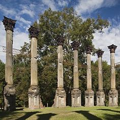 Windsor Ruins  Port Gibson, Mississippi The powerful scale and rhythm of the remaining columns make a striking architectural statement.