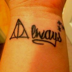 Harry Potter tattoo #snape #deathlyhallows  #always similar to what I want with the stars