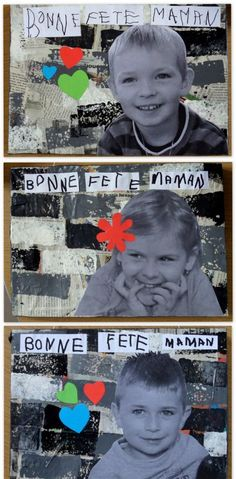 et MS de l'école Jeanne d'Arc - bepyc. Cadeau Parents, Preschool Pictures, Grandparents Day Crafts, Ps Plus, Art N Craft, French Lessons, Teaching French, Mothers Day Cards, Photo Projects