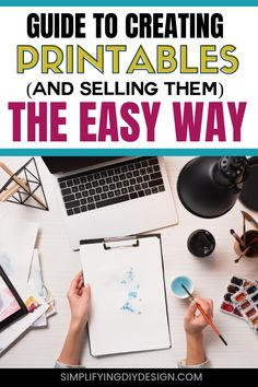 Want to learn how to create and sell printable products? This guide goes over how to use digital products in your blog to make money online! From using them with your email list or how to sell printables, this article has you covered! #printables #selldigitalproducts #sellprintables #makemoneyblogging