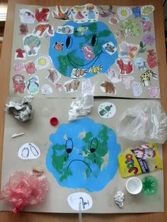 20 Recycling Activities And Games For Kids - Great for Earth Day Earth Day Projects, Earth Day Crafts, Earth Craft, Kids Crafts, Preschool Crafts, Earth Day Activities, Teaching Activities, Art Activities, Teaching Art