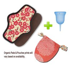 SCKOONCUP - MENSTRUAL CUP AND SCKOON ORGANIC COTTON PAD SET - BALANCE