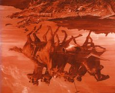 #MarkTansey Forward Retreat, oil on canvas.  Follow Mark Tansey Pins on Pinterest, curated by Joseph K. Levene Fine Art, Ltd. | JKLFA.com | http://pinterest.com/jklfa/mark-tansey/