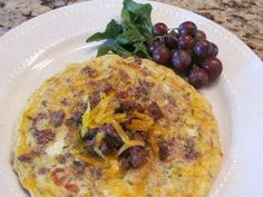 A frittata, a great dish for breakfast