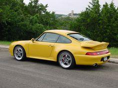 Beautiful yellow Porsche 993 Turbo on Speedlines. #everyday993 #Porsche