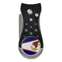 Golf Divot Tool with Flag of American Samoa USA - elegant gifts gift ideas custom presents
