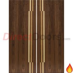 JB Kind Inspiration Nirvana Walnut Veneer Fire Door Pair, Pre-Finished, 30 Minute Fire Rated.  #firedoors