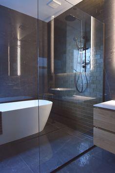 Frameless shower screen as a wet room / divider Bath Screens, Shower Installation, Frameless Shower, Shower Screen, Wet Rooms, Glass Shower, Showers, Naked, Divider